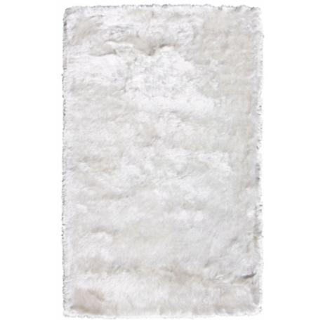 Crystal Collection 2605 White Shag Area Rug