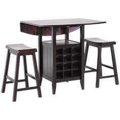 Chelsea Espresso Wood 3- Piece Pub Set