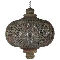 Tangier Rust Small Iron Lantern