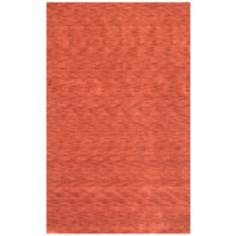 Ebony Collection 1203 Red Wool Area Rug