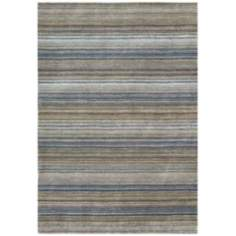 Fantasy Collection 1305 Blue Wool Area Rug