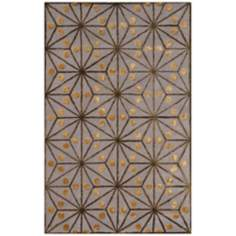 Amber Collection 701 Gray/Gold/Green Area Rug