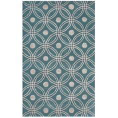 Amber Collection 702 Light Blue/Silver Area Rug