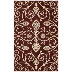 Amber Collection 705 Burgundy Area Rug