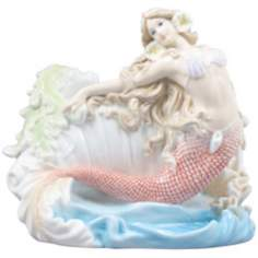 Mermaid and Seashell Multi-Color Porcelain Bowl