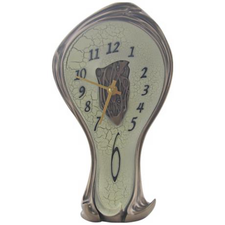 Art Nouveau Open-Center Melting Bronze Clock