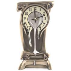 Art Nouveau Melting Bronze Table Clock
