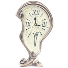 Melting Art Nouveau Bronze Table Clock