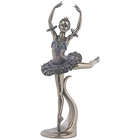 "Attitude Derriere Bronze 12"" High Ballerina Figurine"