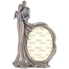 Bride and Groom Bronze Wedding Photo Frame