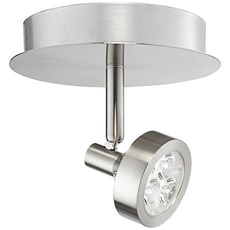 Pro-Track® Tilden One-Light Brushed Steel LED Ceiling Light