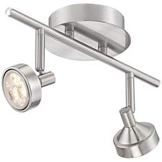 Pro-Track® Tilden Two-Light Brushed Steel LED Ceiling Light
