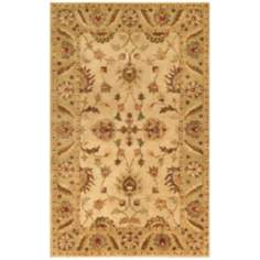 Golden Collection 804 Beige and Light Green Area Rug