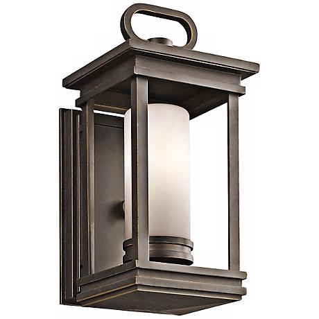 "Kichler South Hope 11 3/4"" High Bronze Outdoor Wall Light"