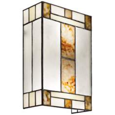 "Kichler Bryce 13"" High Art Glass Nickel Wall Sconce"