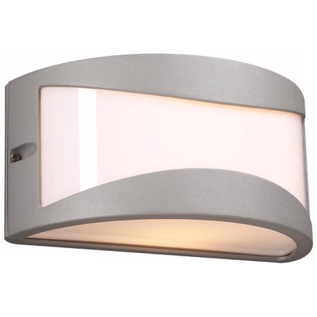 "Baco 10"" Wide Silver and Acrylic Outdoor Wall Light"