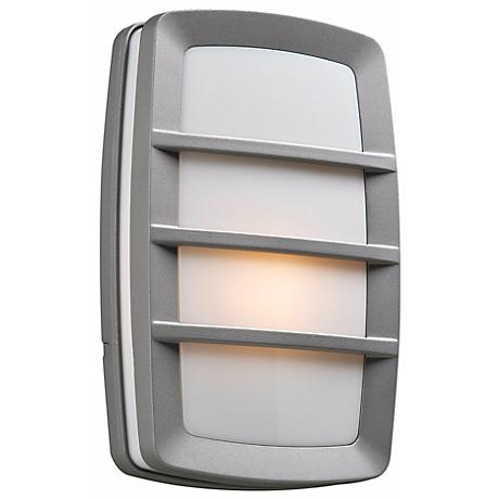 "Aston 12"" High Silver Outdoor Wall Light"