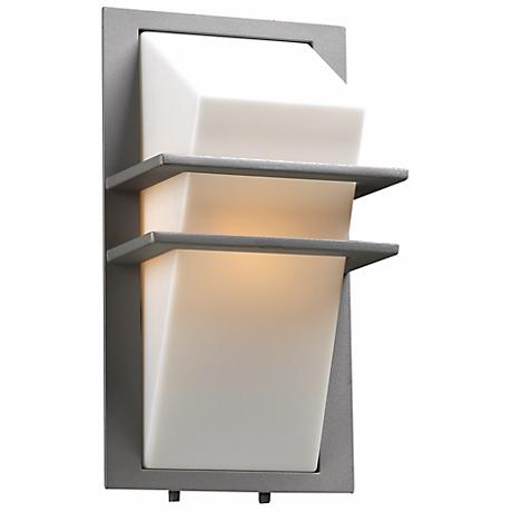 "Juventas 13 1/2"" High Silver Outdoor Wall Light"