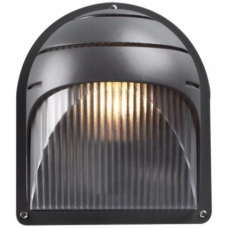 "Delphi 8"" High Bronze Ribbed Acrylic Outdoor Wall Light"