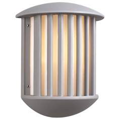 "Circa 13 3/4"" High Silver Outdoor Wall Light"