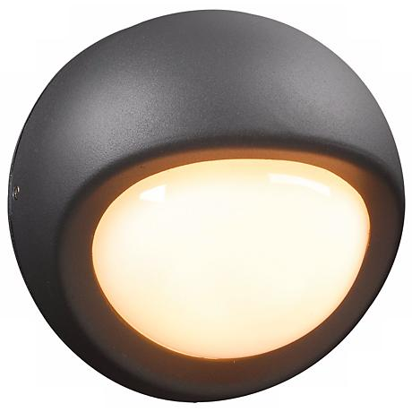 "Sol Collection 7 1/2"" Wide Graphite Outdoor Wall Light"
