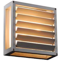 "Moritz 9 3/4"" Square Silver Outdoor Wall Light"