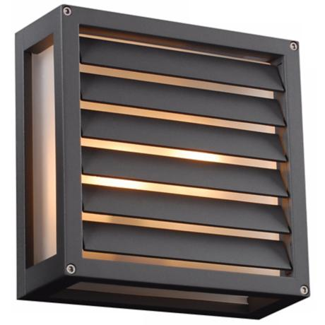 "Moritz 9 3/4"" Square Bronze Outdoor Wall Light"