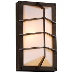 "Expo 11"" High Bronze Outdoor Wall Light"