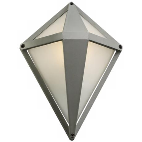 "Aeros Diamond 12"" High Silver Outdoor Wall Light"