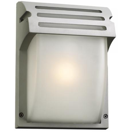 "Moser 9 3/4"" High Silver Outdoor Wall Light"