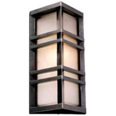 "Trevino 13 1/4"" High Bronze Outdoor Wall Light"