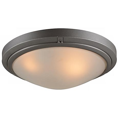 "Ricci II Collection 12"" Wide Bronze Outdoor Ceiling Light"