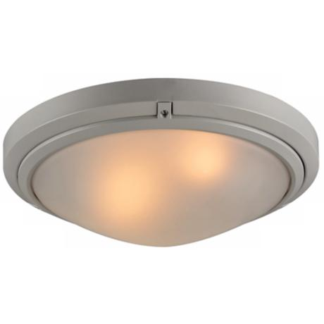 "Ricci II Collection 12"" Wide Silver Outdoor Ceiling Light"