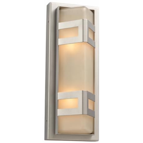 "Sasha 16 1/4"" High Silver Outdoor Wall Light"