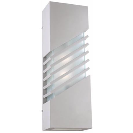 "Perlage 24"" High Silver Outdoor Wall Light"