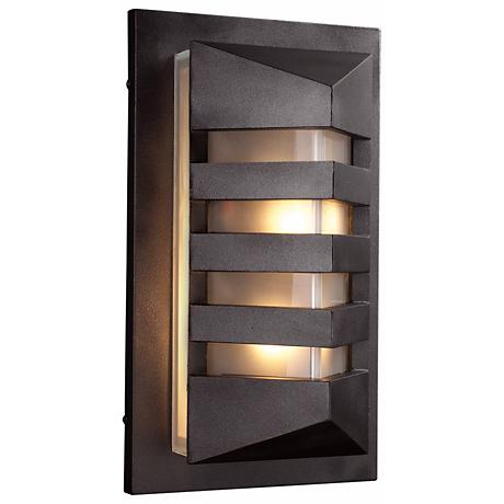 "De Majo 15 3/4"" High Bronze Outdoor Wall Light"