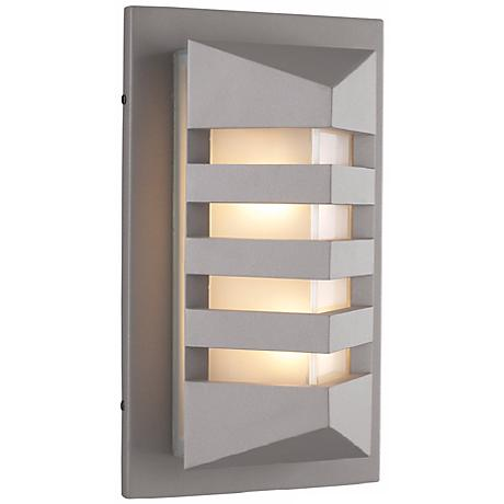 "De Majo 15 3/4"" High Silver Outdoor Wall Light"