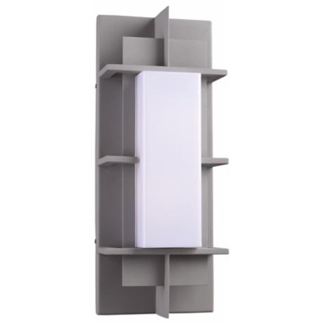 "Decoro 19 1/2"" High Silver Outdoor Wall Light"