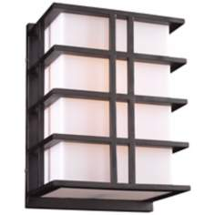 "Amore Opal 13 3/4"" High Bronze Outdoor Wall Light"