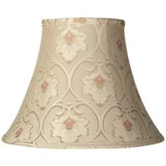 Buttonwood Taupe Floral Bell Shade 7x14x11 (Spider)