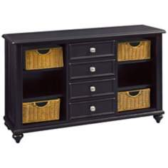 Camden Black 4-Drawer Console Table