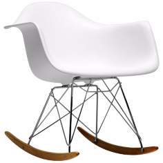 Earl White Plastic Rocking Chair