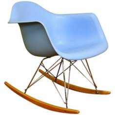 Earl Blue Plastic Rocking Chair
