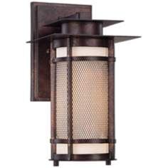 "Burberry 13"" High Bronze Outdoor Wall Light"