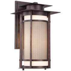 "Burberry 17"" High Bronze Outdoor Wall Light"