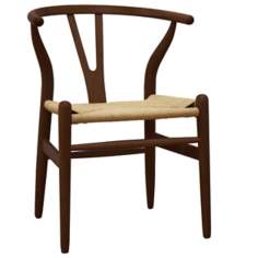 Wishbone Dark Brown Wood Chair