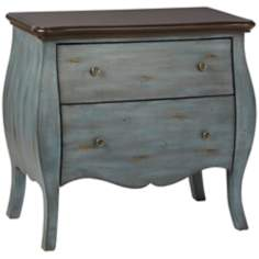 Dorset 2-Drawer Distressed Bombe Chest