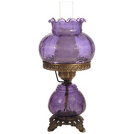 Grape Crackle Night Light Hurricane Table Lamp