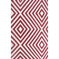 Ecconox 72426 Zuel Red and White Area Rug