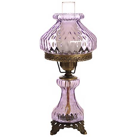 Violet Rhombus Octagon Night Light Hurricane Table Lamp